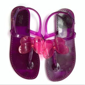 Gap Butterfly Jelly Sandals Ankle Strap Purple